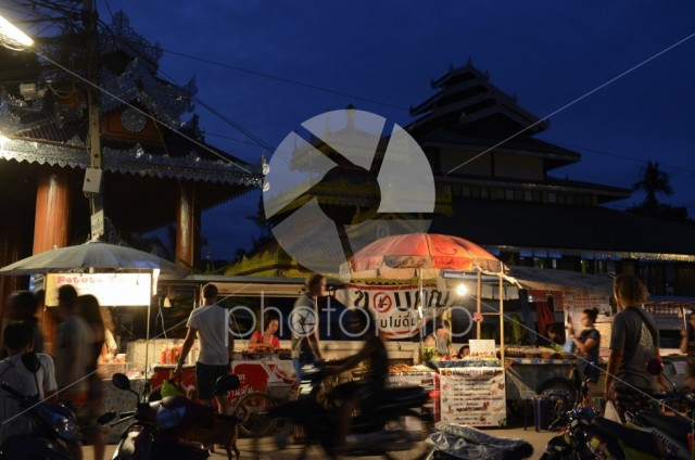 Nightmarket in the village of Pai