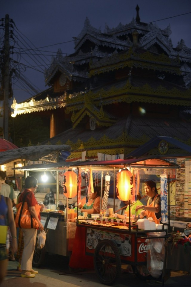 Nightmarket in the village of Pai