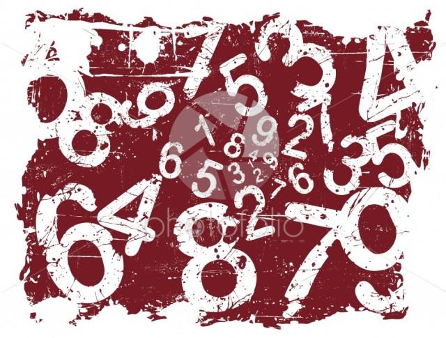 Grunge Number Background
