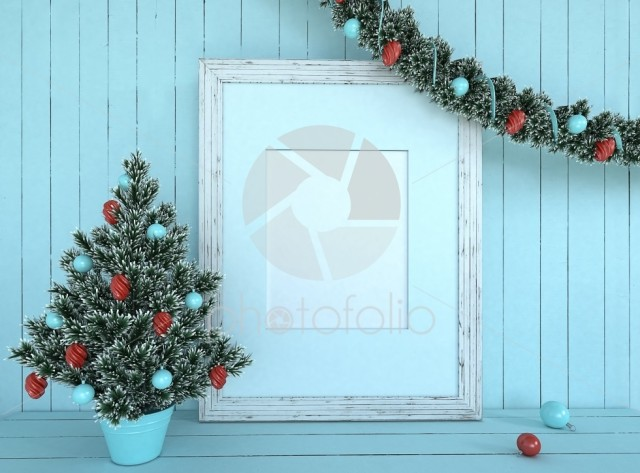 Christmas Tree Decoration with empty frame