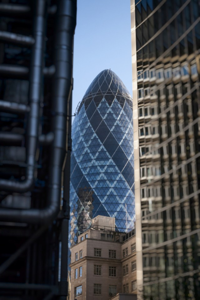 The Lloyds Building, The Gherkin and the Willis Building