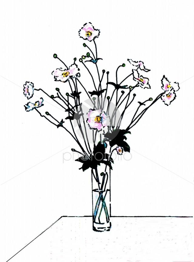 Vase of anemones