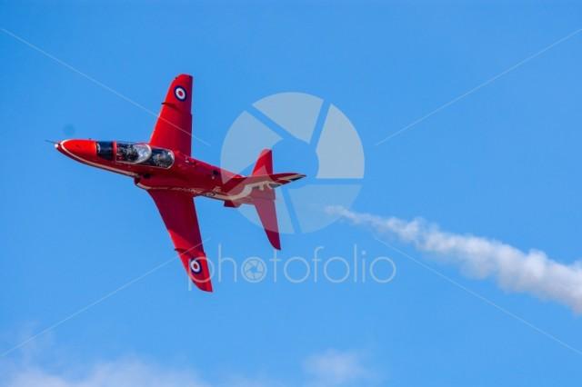 Red Arrow in flight