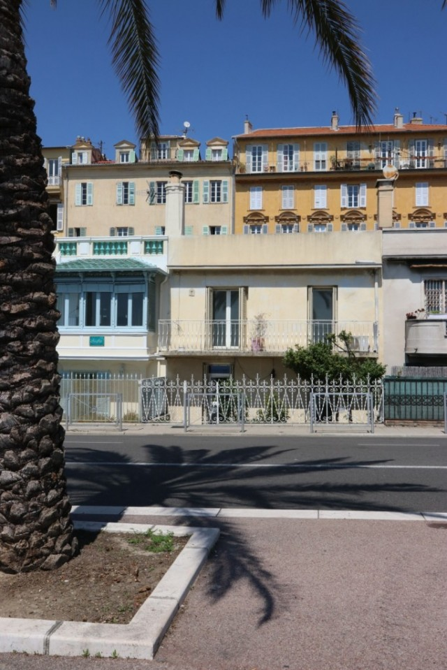 French Riviera house on promenade, Nice, France