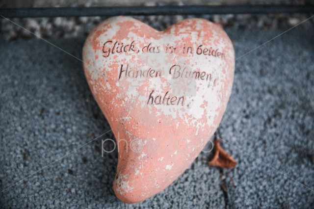 Shabby Chic Outdoors Heart Garden Decoration