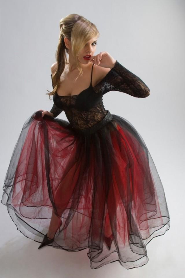 Beautiful girl in diaphanous dress