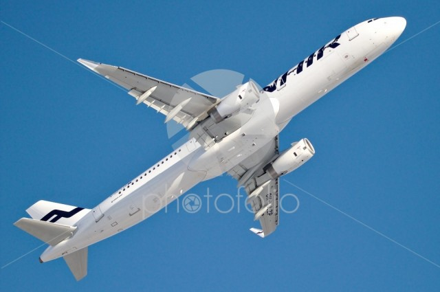 Finnair's Airbus A320 few seconds after takeoff
