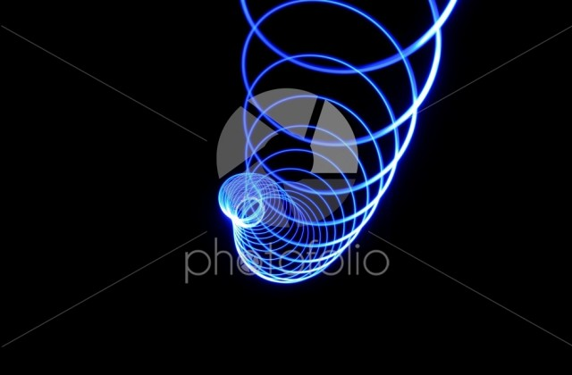 Worm of blue light