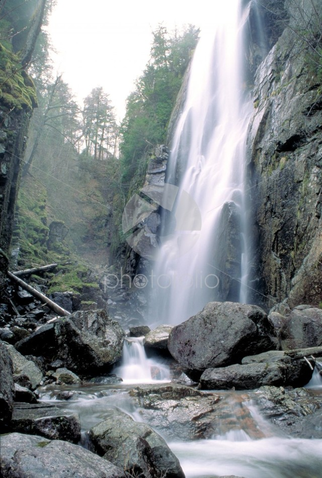 Adirondack waterfall near the high peaks