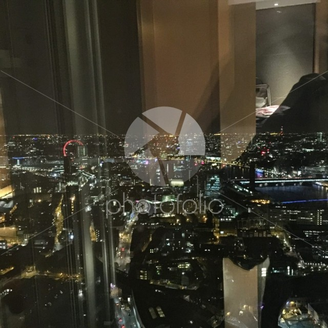 Night View from the Shard Hotel London