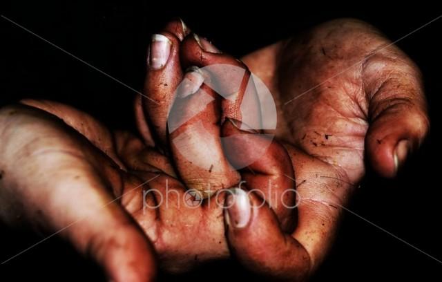 Strange position hands