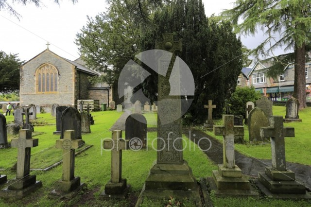 The Ruskin Cross marks John Ruskin's grave, St Andrews Church