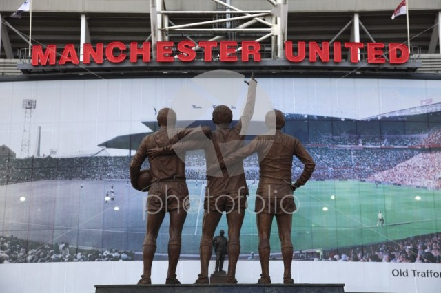 The United Trinity sculptor by Philip Jackson, Manchester United