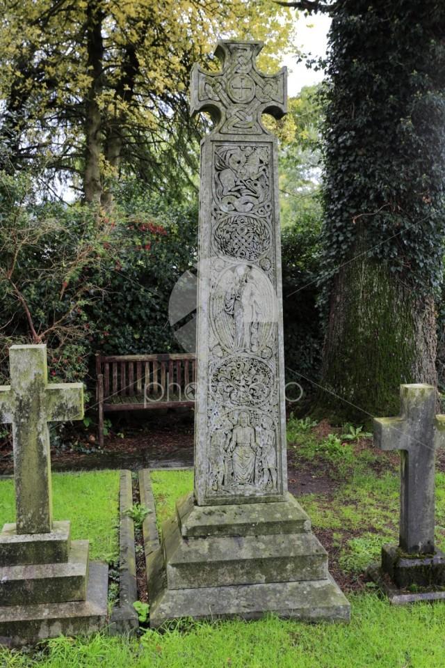 The Ruskin Cross marks John Ruskin's grave, St Andrews Church