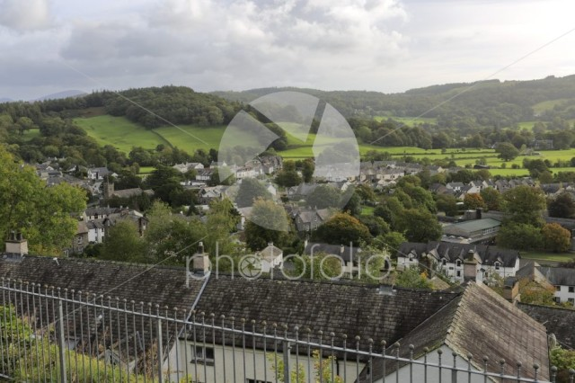 Street view of Coniston town, Cumbria, Lake District