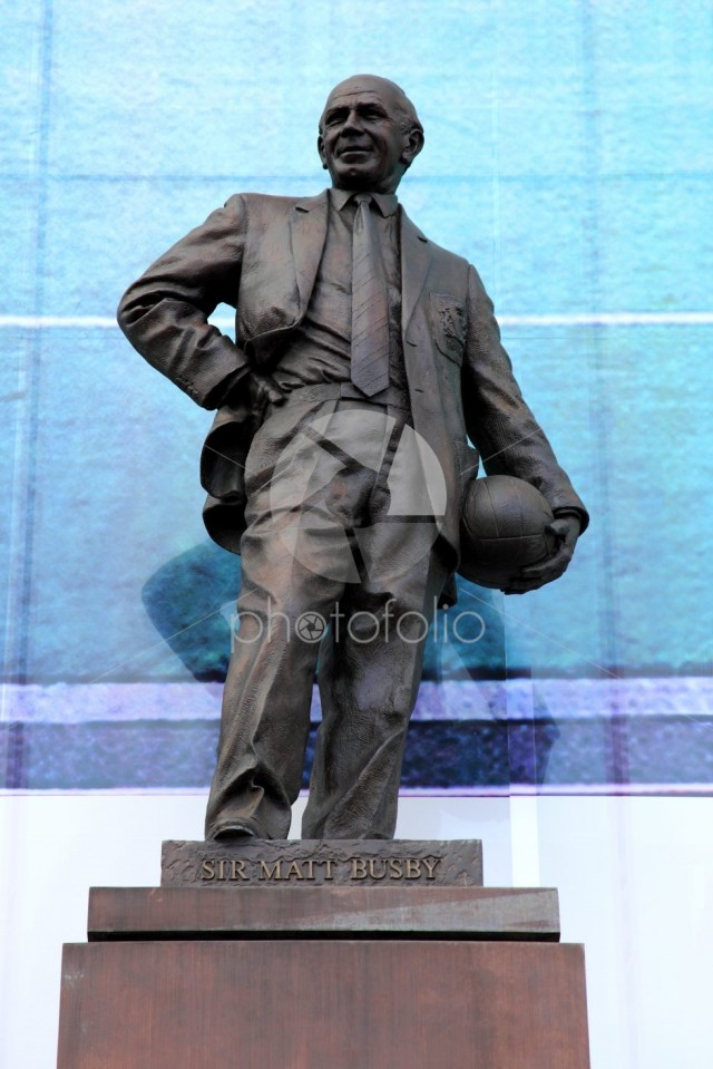 Statue of Sir Matt Busby, Manchester United's Old Trafford