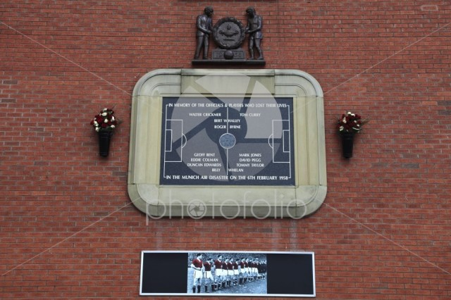 Munich air disaster memorial, Manchester United's Old Trafford