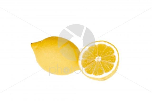 A lemon and lemon cut