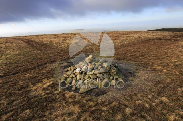 The Summit cairn on Great Sca fell, Uldale Fells, Lake District