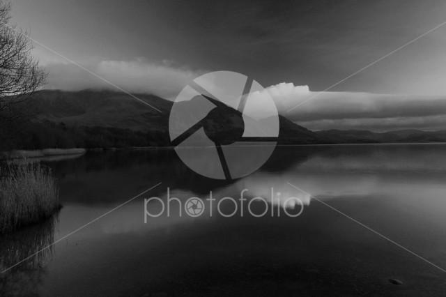 Sunset over Bassenthwaite lake, Keswick, Lake District