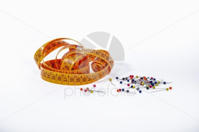 Tape measure and pins