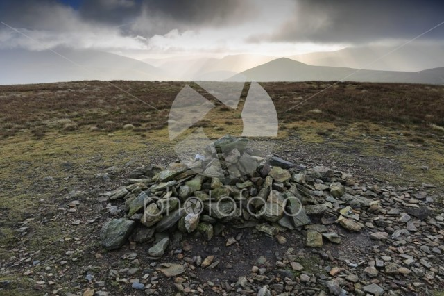 The Summit cairn on Knott fell, Uldale Fells, Lake District