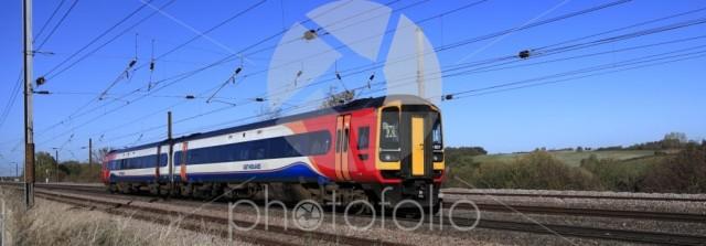 East Midlands trains 158 857, East Coast Main Line Railway