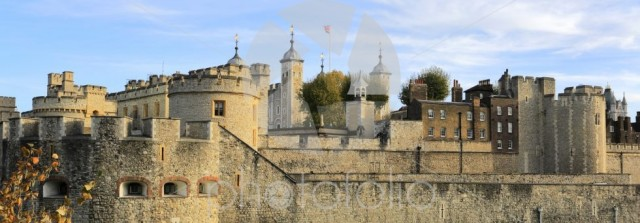 The walls and grounds of the Tower of London