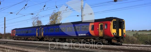 East Midlands trains 155 415, East Coast Main Line Railway