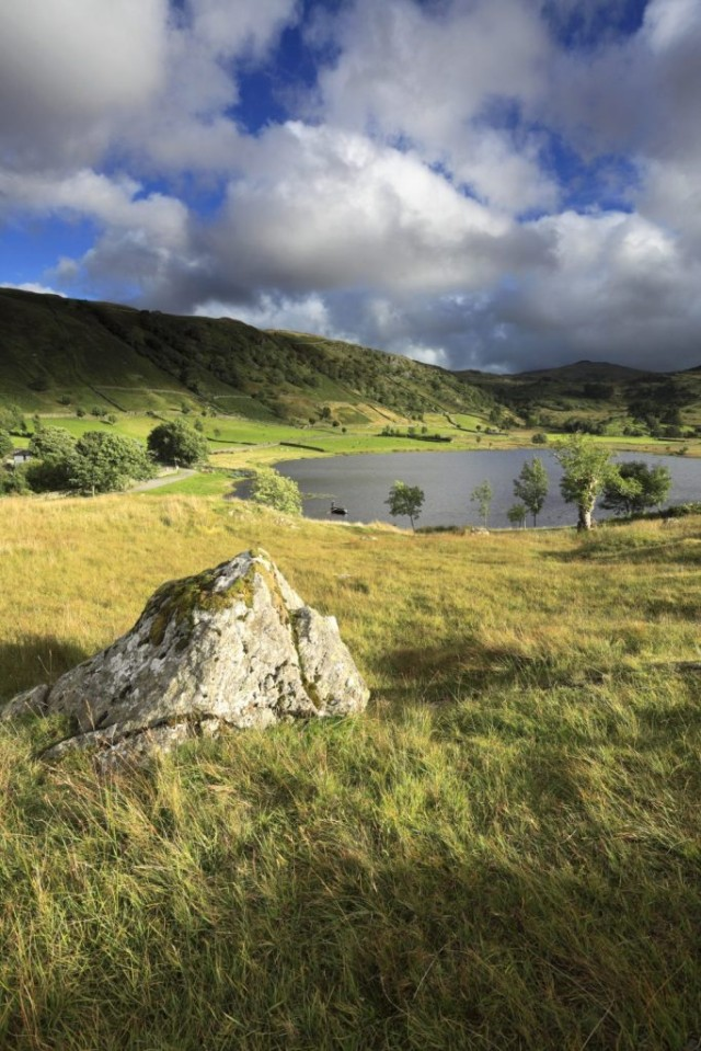 Summer view over Watendlath Tarn, Lake District National Park