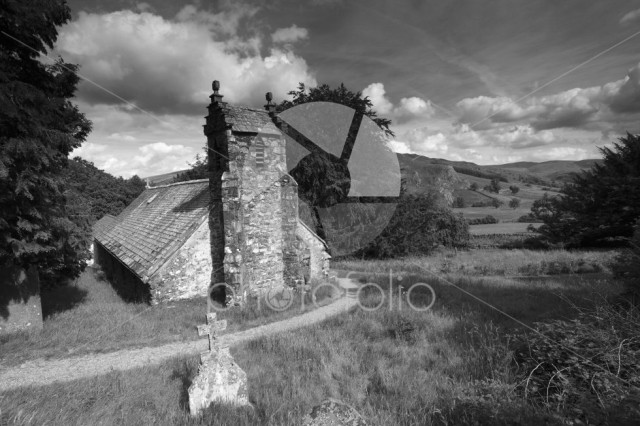 View over Matterdale church; Lake District National Park