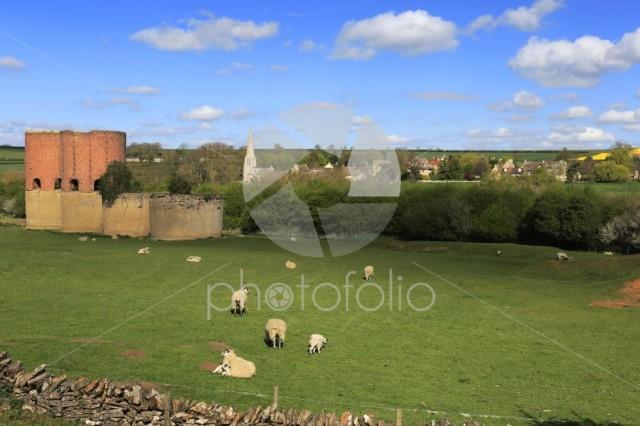 Summer view, Brick kilns above Wakerley village