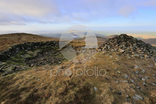 The Summit cairn on Little Sca fell, Uldale Fells, Lake District