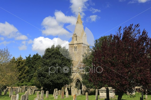 Summer, All Saints parish church, Laxton village