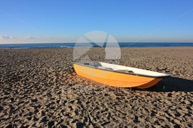 Boat on the sandy beach