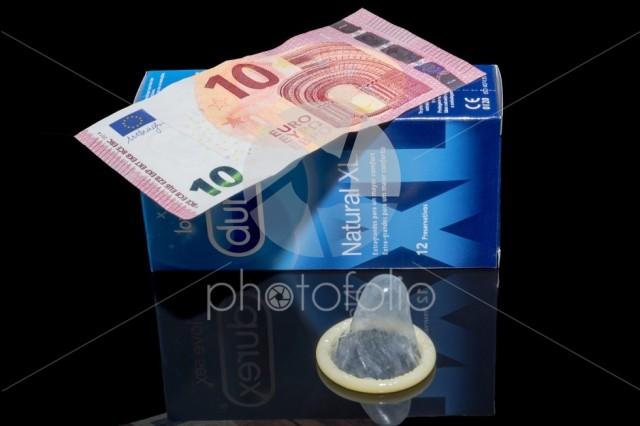 Durex condoms on a black background