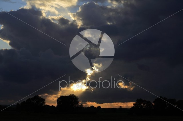 Big Sky Storm clouds over Fenland fields, Cambridgeshire