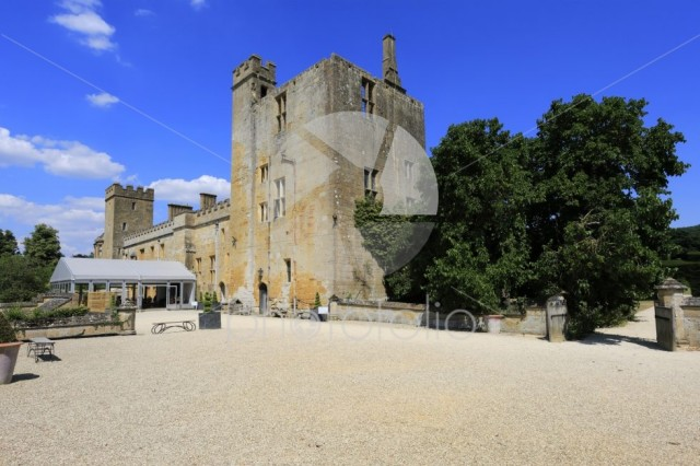 Summer view over Sudeley Castle & Gardens near Winchcombe