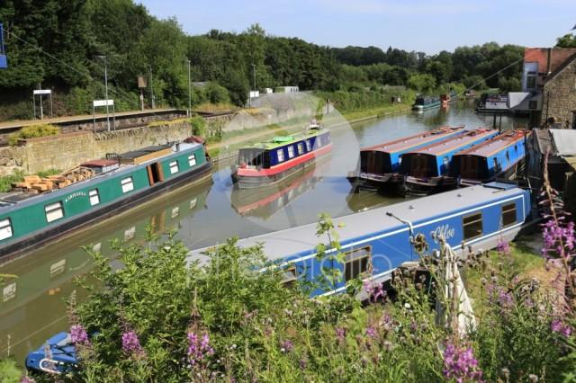 Narrowboats on the Oxford Canal at Heyford Wharf, Lower Heyford