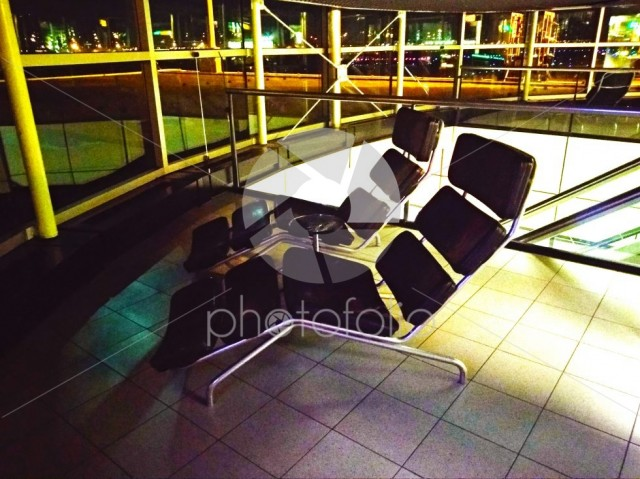 Comfortable deckchairs for the rest of the passengers of Schiphol Amsterdam airport flights in Holland