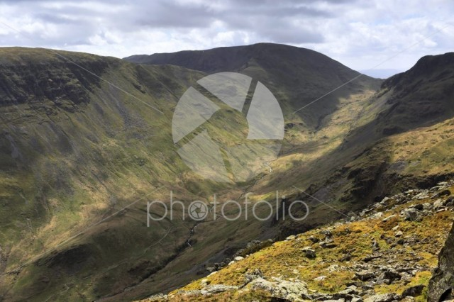 View through the Grisedale Valley above Patterdale, Ullswater