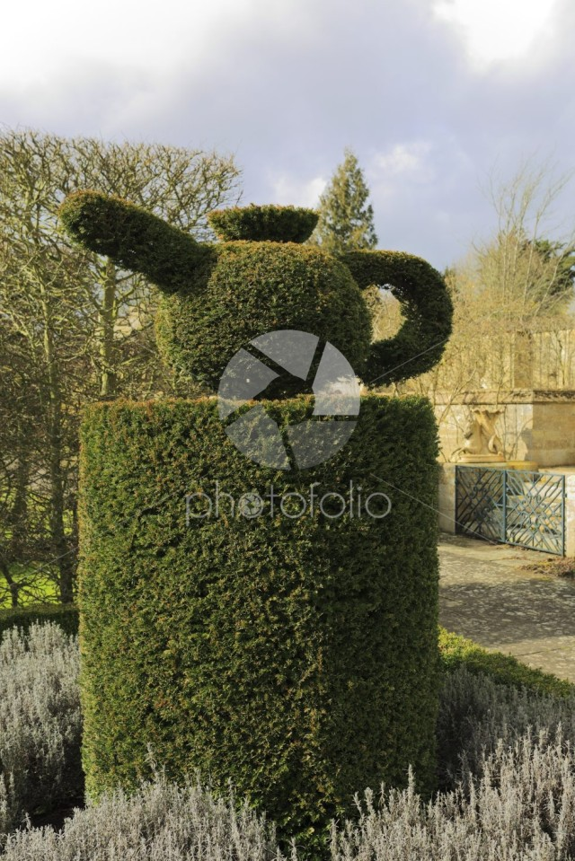 Garden Topiary, Deene Park, the seat of the Brudenell family