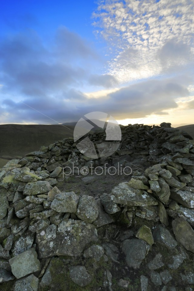 The Summit cairn on Meal fell, Uldale Fells, Lake District