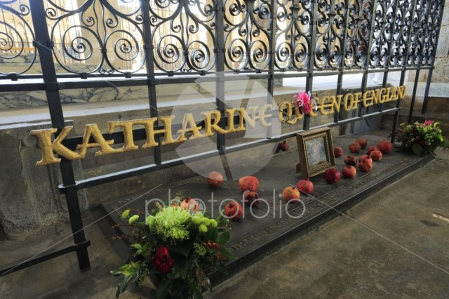 Katherine of Aragon Grave, Interior of Peterborough Cathedral
