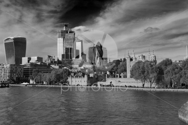 Autumn view, Tower of London, North Bank of the river Thames