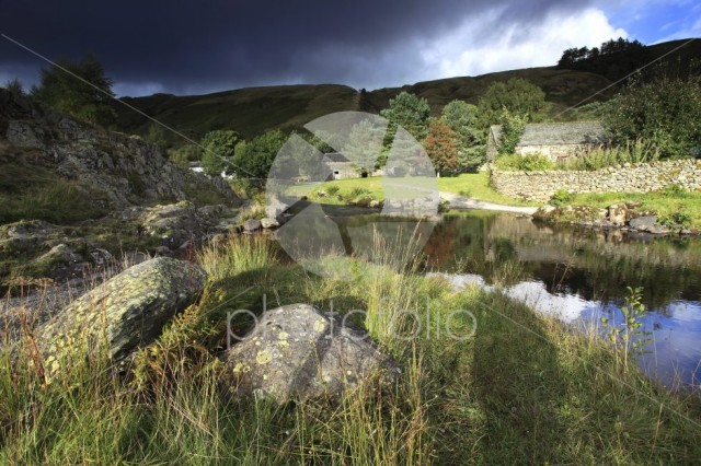 Summer view over Watendlath Tarn, Lake District National Park