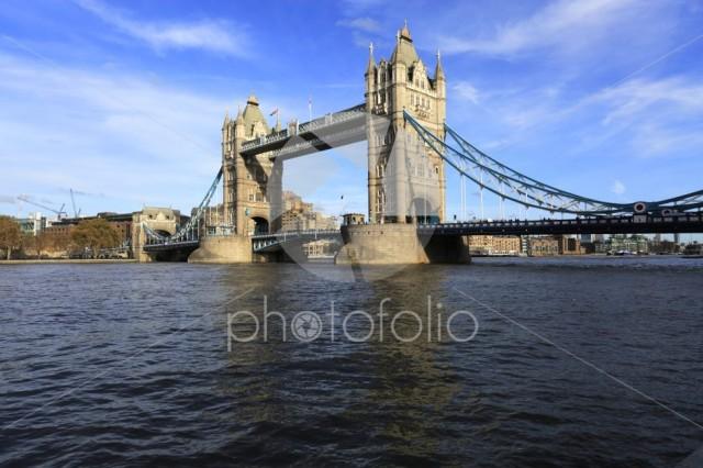 Autumn, Tower Bridge, a combined bascule and suspension bridge,