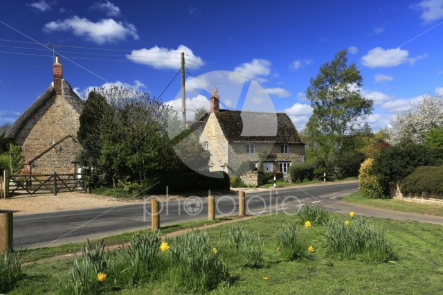 Summer view, Harringworth village, Northamptonshire county