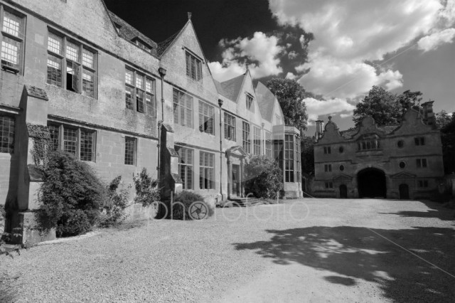 Summer view of Stanway House and gardens, Stanway village