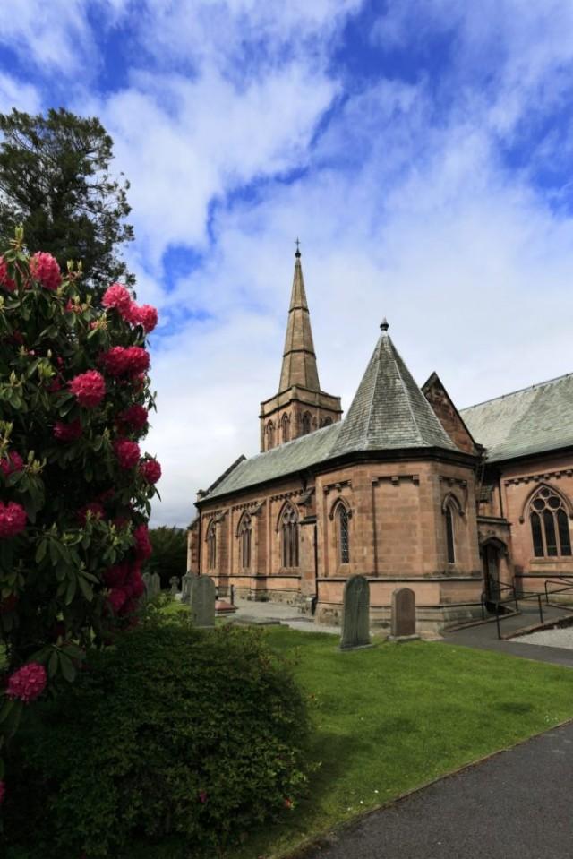 Summer, St Johns church, Keswick town; Allerdale, Lake District